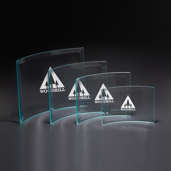 Personalized Chronicle X-Small Jade Glass Award