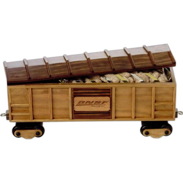 Customized Deluxe Mixed Nuts in Train Box Car