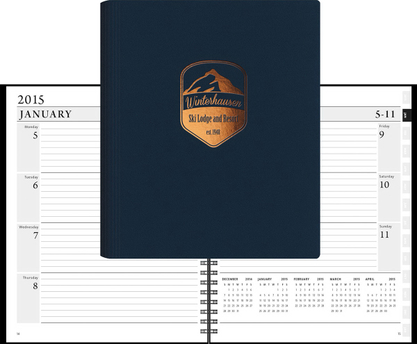 Customized 2015 LeatherWrap XEO Weekly Planner