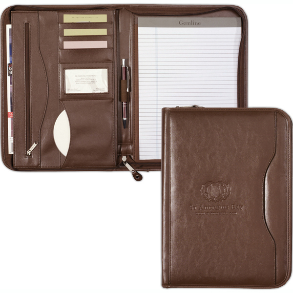 Personalized Deluxe Executive Vintage Leather Padfolio