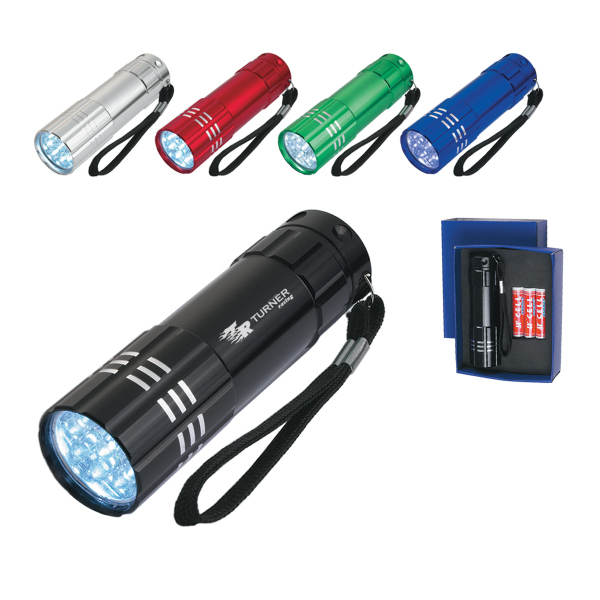 Custom Aluminum LED Flashlight With Strap