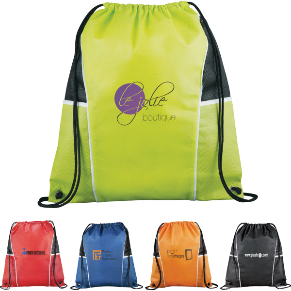 Promotional Diamond Drawstring Cinch Backpack