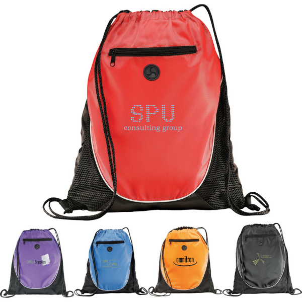 Imprinted The Peek Drawstring Cinch Backpack
