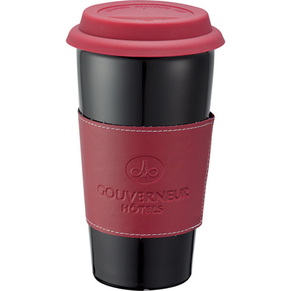 Promotional Mega Double Wall Ceramic Tumbler with Wrap 15 oz
