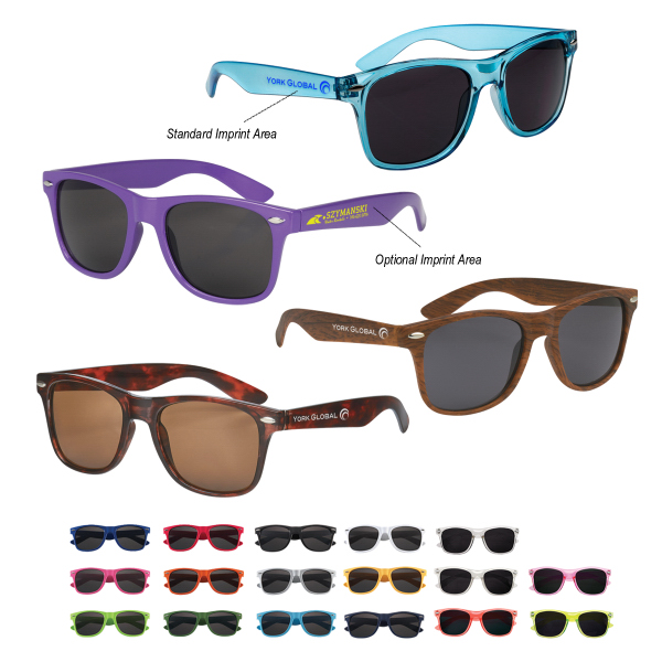 Imprinted Malibu Sunglasses