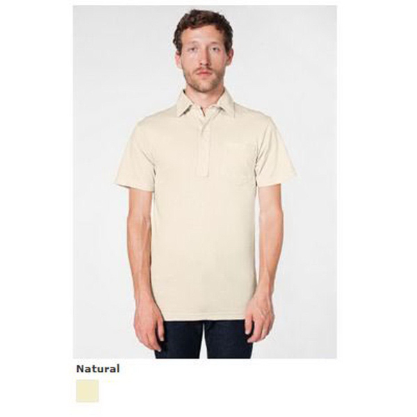 Customized Organic Fine Jersey Short Sleeve Leisure Shirt