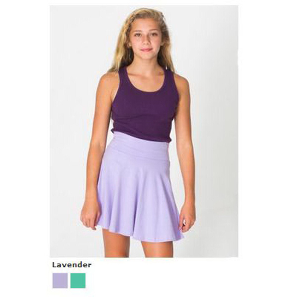 Customized Youth Cotton Spandex Jersey High-Waist Skirt