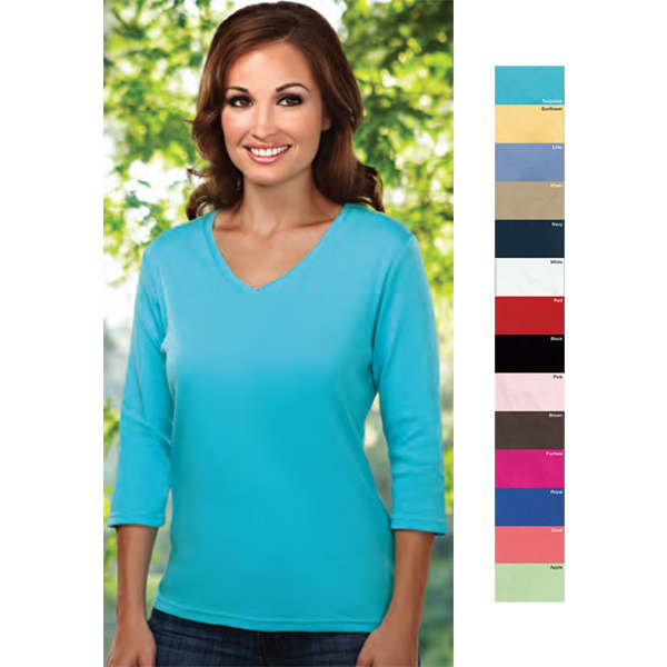 Customized Mystique - Women's 3/4 Sleeve Knit Shirt
