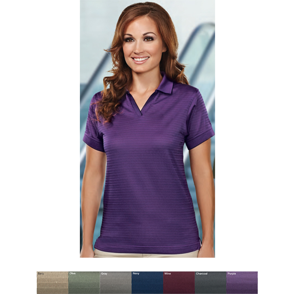 Promotional Aura - Women's Johnny Collar Golf Shirt