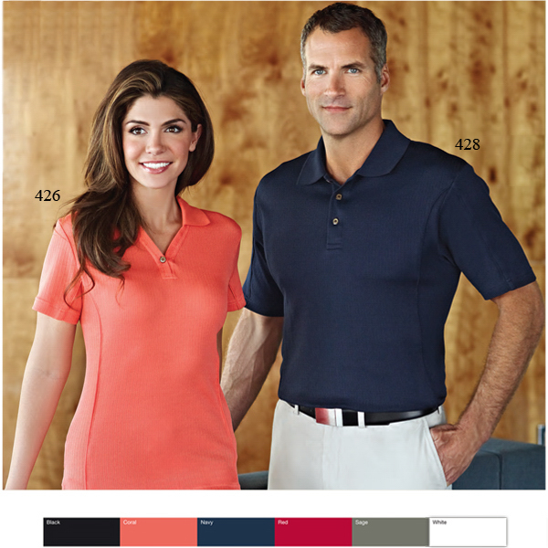 Customized Stella - Women's Vertical Stripe Jacquard Golf Shirt