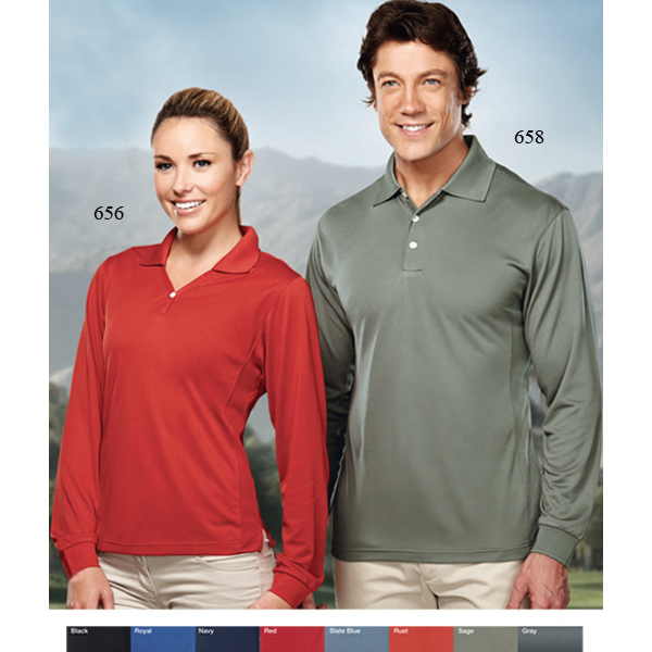 Printed Escalate - Men's Long Sleeve Golf Shirt