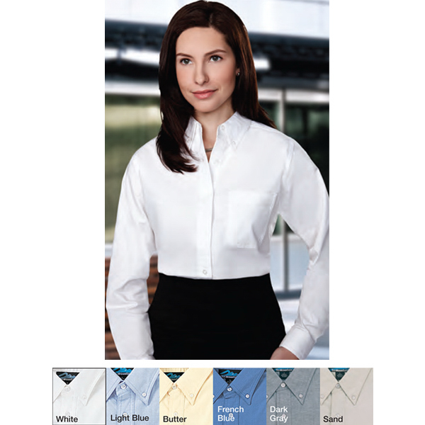 Personalized Echo - Women's Long Sleeve Oxford Dress Shirt