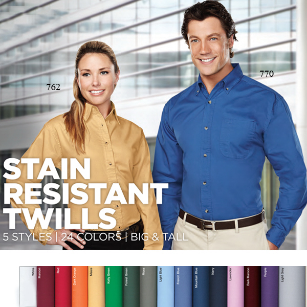Promotional Professional - Men's Long Sleeve Twill Shirt