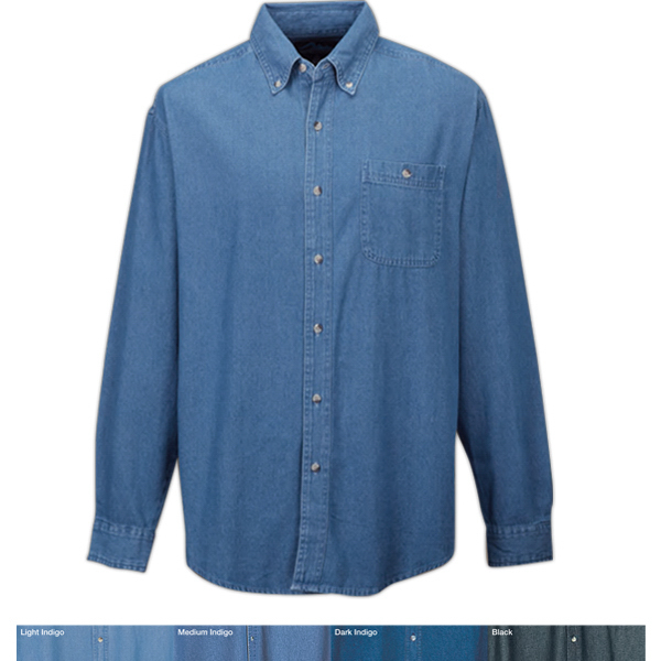 Customized Pioneer - Men's Cotton Denim Stonewashed Shirt
