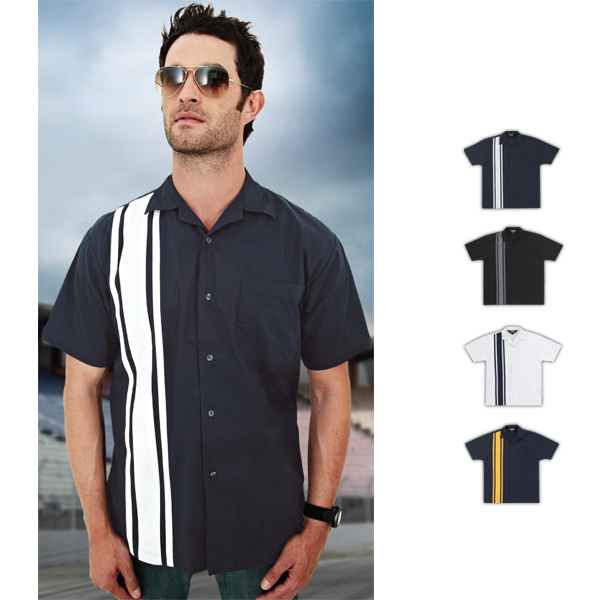 Imprinted Cobra - Poly Cotton Twill Camp Shirt