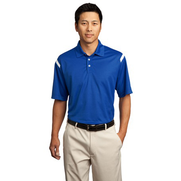 Custom Nike golf Dri-fit shoulder stripe sport shirt