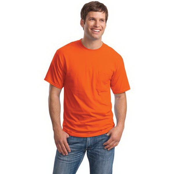 Imprinted Hanes (R) Beefy-T (R) - 100% Cotton T-Shirt with Pocket
