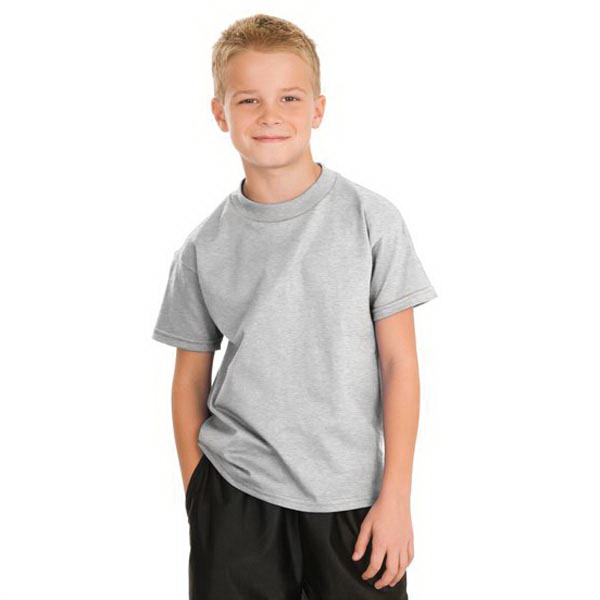 Printed Hanes® youth Tagless® 100% cotton t-shirt