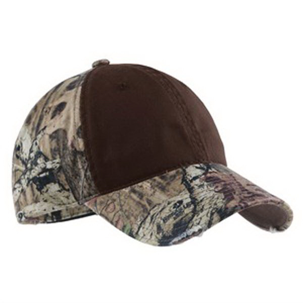 Promotional Port Authority® camo cap with contrast front panel