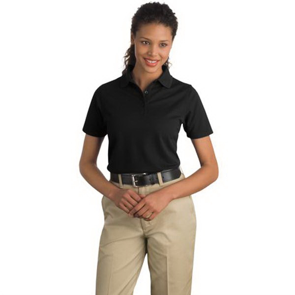 Personalized Cornerstone® Ladies' industrial pocketless pique polo