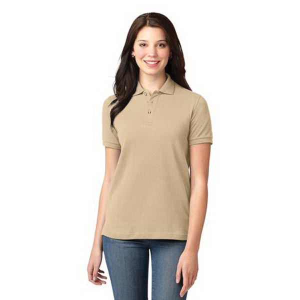 Personalized Port Authority® Ladies pique knit sport polo