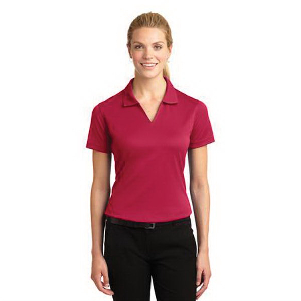 Custom Sport-Tek® Dri-Mesh (R) Ladies' v-neck polo