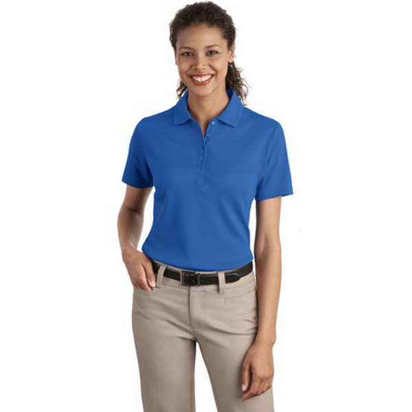 Customized Port Authority® Ladies' textured sport polo with wicking