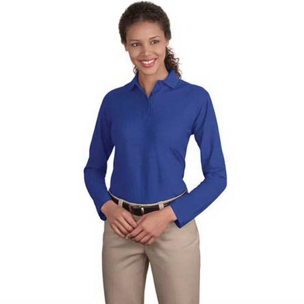 Custom Port Authority® Ladies' Silk Touch long sleeve sport shirt