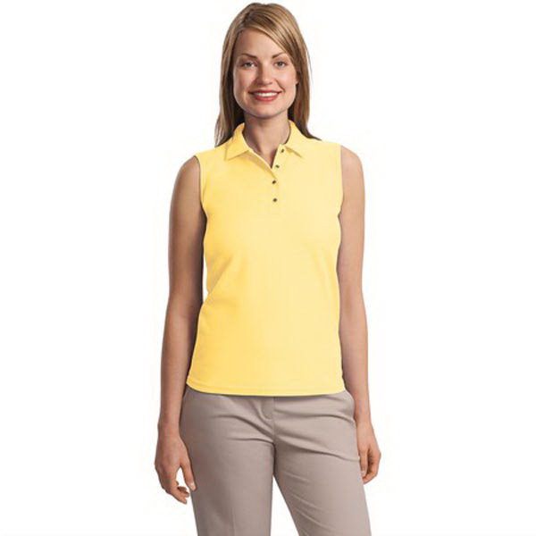 Custom Port Authority® Ladies Silk Touch sleeveless polo