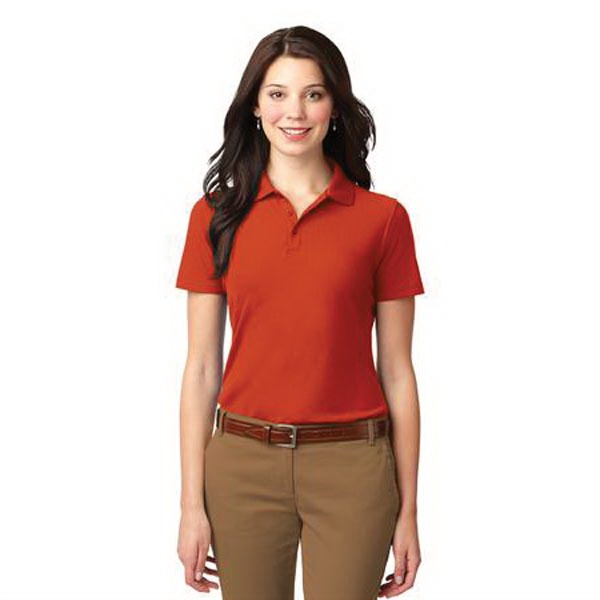 Imprinted Port Authority® Ladies' stain-resistance polo