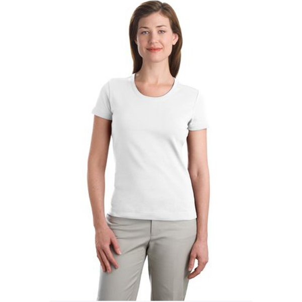 Printed Port Authority® ladies' modern stretch scoop neck shirt