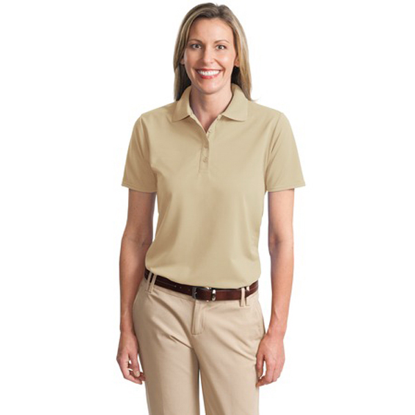 Printed Port Authority® Dry Zone Ladies' ottoman sport polo