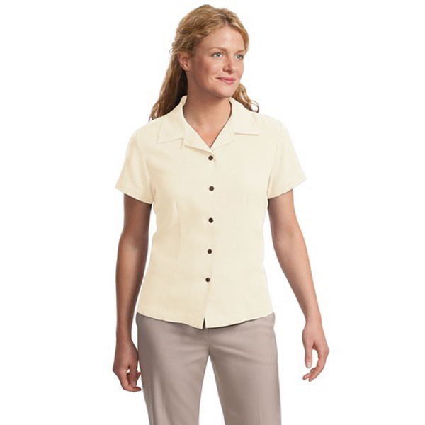Custom Port Authority ® Ladies' silk blend camp shirt