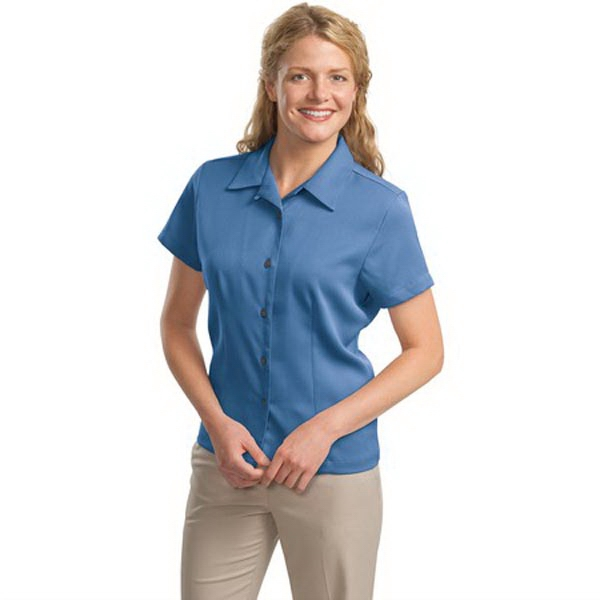 Printed Port Authority® Ladies' easy care camp shirt
