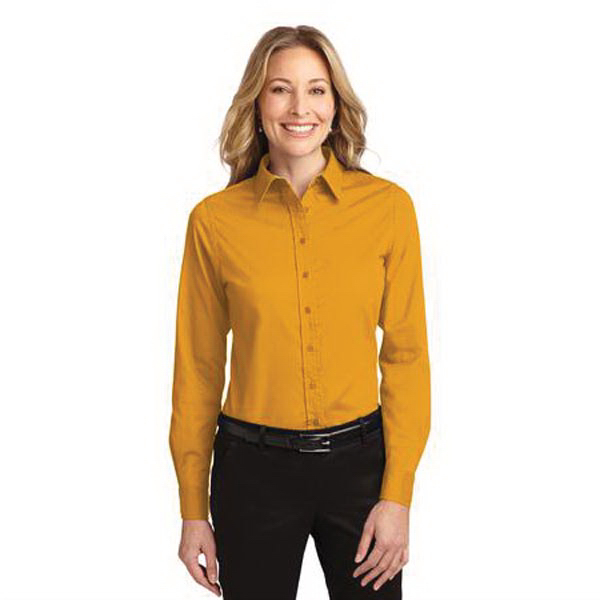 Printed Port Authority® Ladies' long sleeve easy care shirt