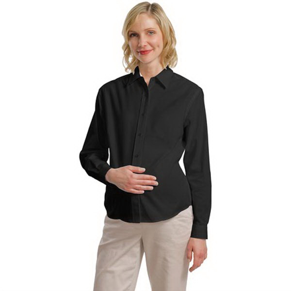 Printed Port Authority® Maternity long sleeve easy care shirt