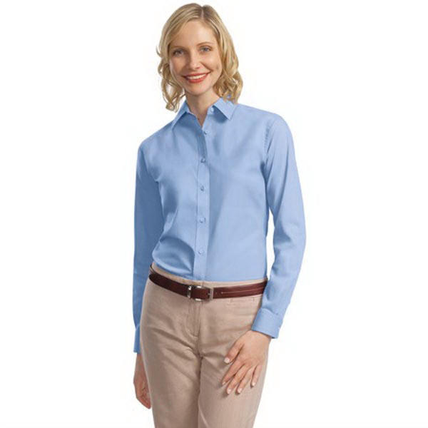 Promotional Port Authority® Ladies long sleeve value poplin shirt