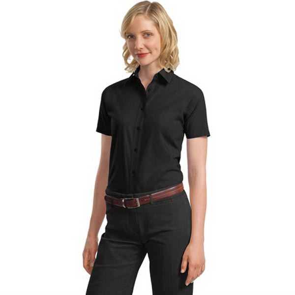 Custom Port Authority® Ladies' short sleeve value poplin shirt