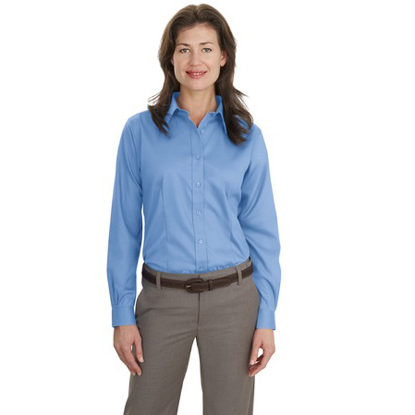 Customized Port Authority® Ladies long sleeve non-iron twill shirt