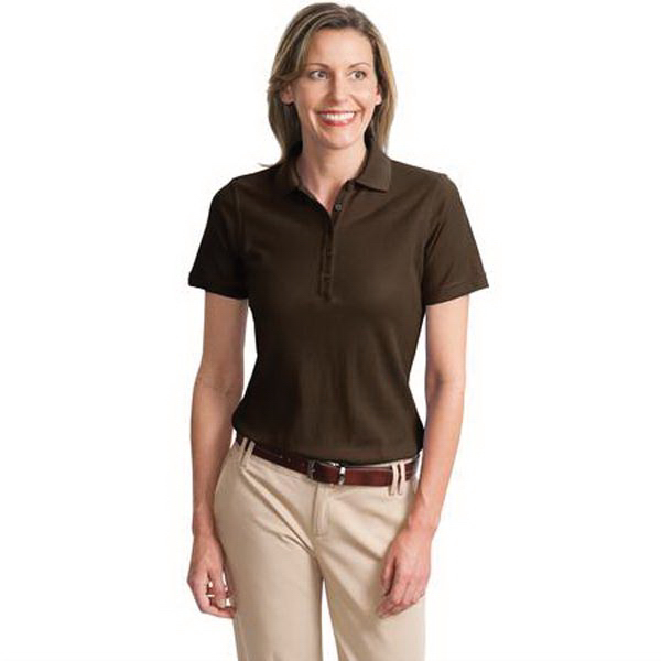 Custom Port Authority® Ladies' EZCotton(TM) pique sport polo