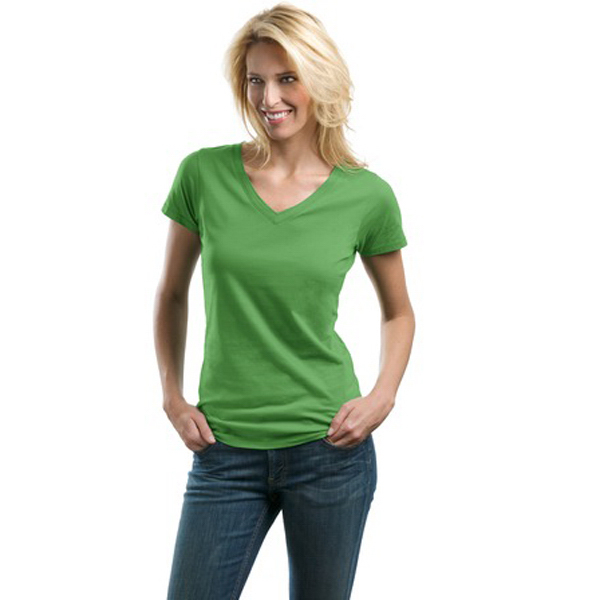 Personalized Port Authority® ladies concept v-neck tee