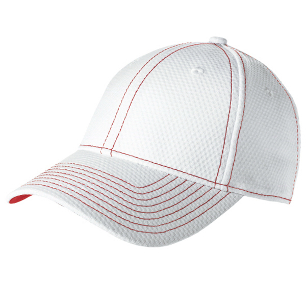 Imprinted New Era® performance mesh contrast stitch cap