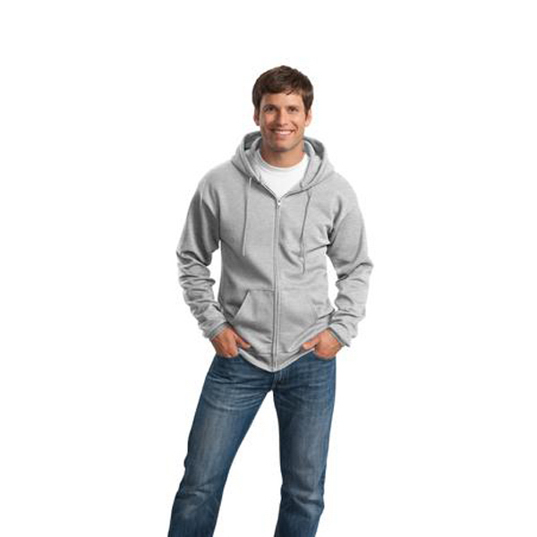 Promotional Port & Company® 7.8 oz full-zip hooded sweatshirt