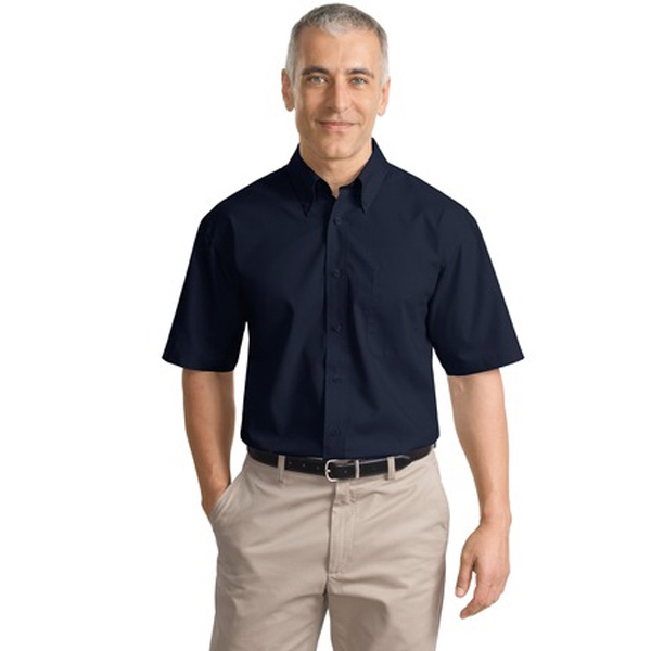 Customized Port Authority® short sleeve value poplin shirt