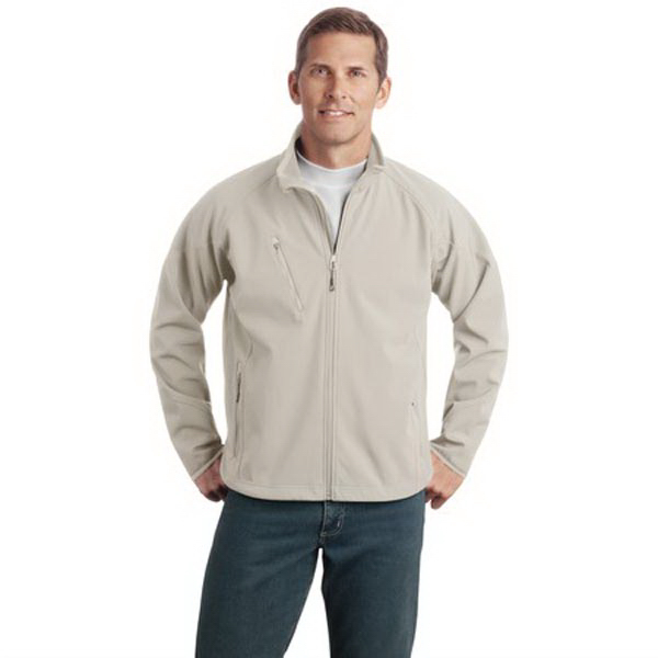 Personalized Port Authority® tall size textured soft shell jacket