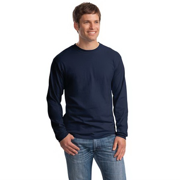 Customized Hanes® Beefy-T® 100% cotton long sleeve t-shirt