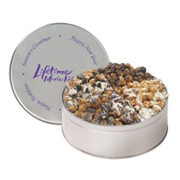 Personalized 4 Way Popcorn Tin / Extra Large