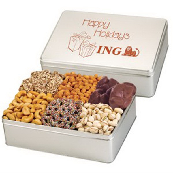 Printed 6 Way Gift Tin / Premium Treat Selection