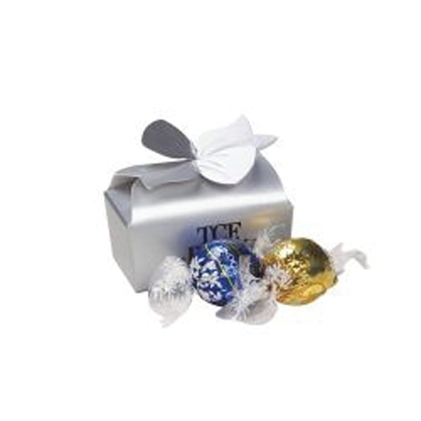 Imprinted Small Bow Gift Box /Truffles