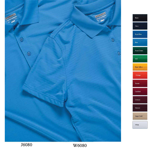 Customized Cayenne Jacquard Stripe Polo